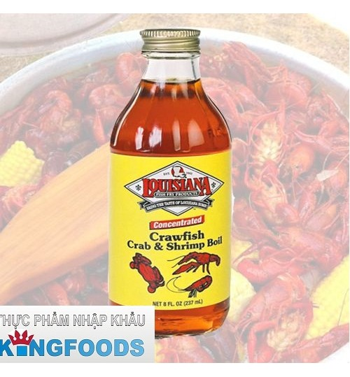 NƯỚC GIA VỊ LUỘC TÔM CUA LOUISIANA CRAWFISH CRAB AND SHRIMP BOIL LIQUID 474 ML